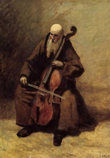 Jean-Baptiste-Camille-Corot-Monk-with-a-Cello-Oil-Painting